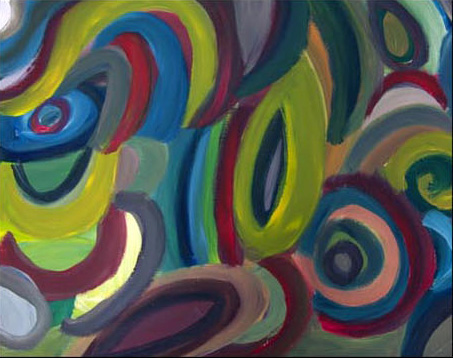 Painting by Justine Roland-Cal - Abstract a