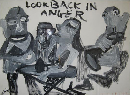 Painting by Justine Roland-Cal - Look back in anger