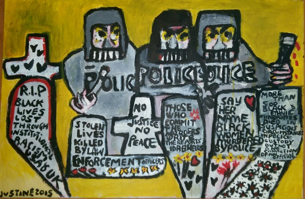 Home by Justine Roland-Cal - Black lives matter