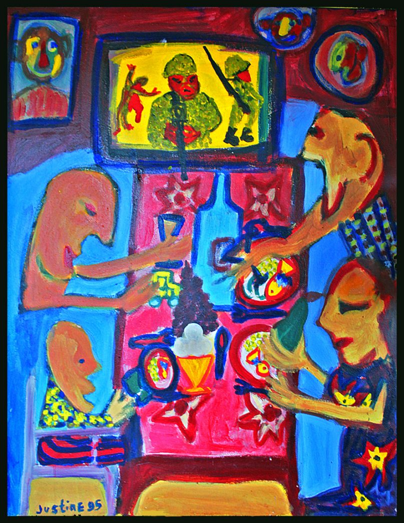 Painting by Justine Roland-Cal - Bon appetit