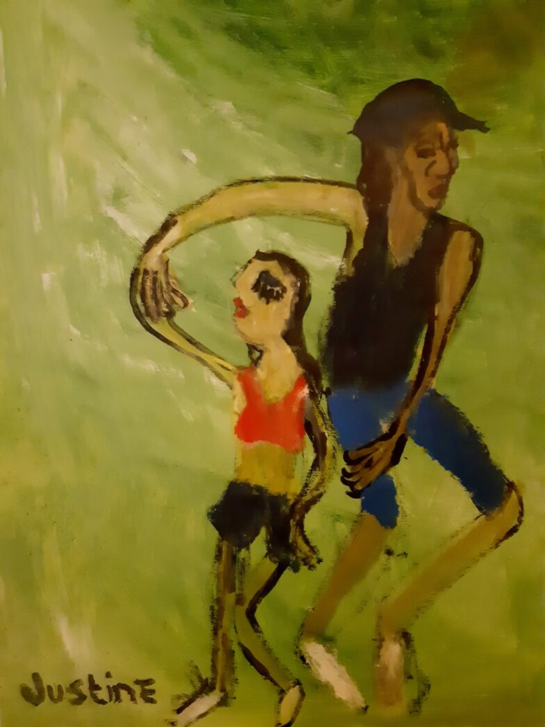 Painting by Justine Roland-Cal - Salsa