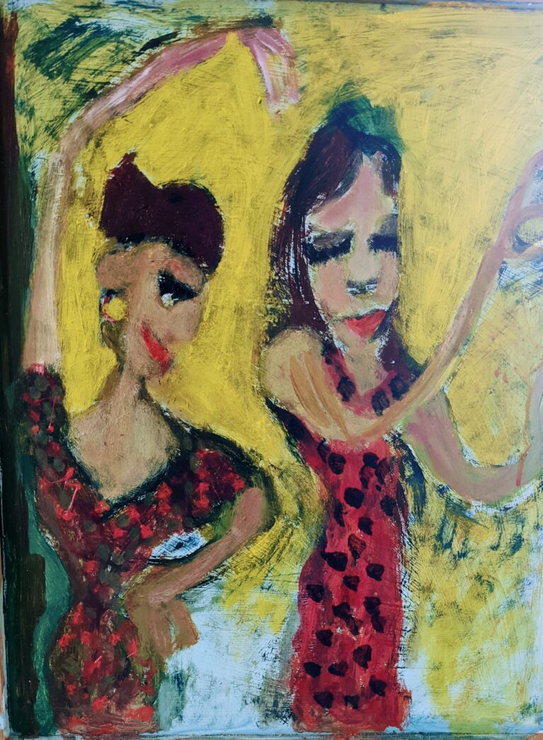 Painting by Justine Roland-Cal - Flamenco