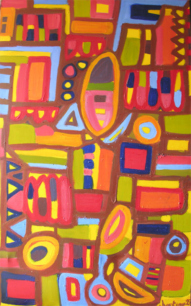 Painting by Justine Roland-Cal - Large abstract