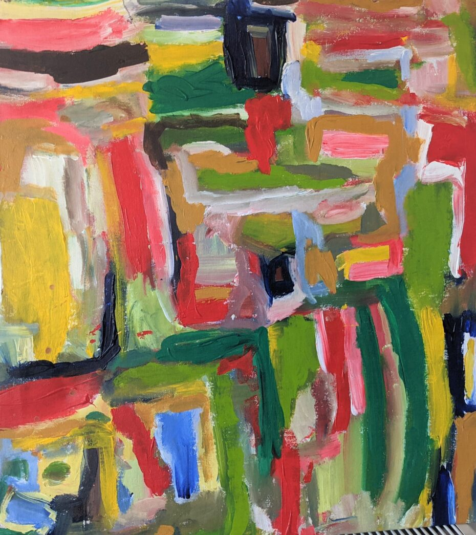 Painting by Justine Roland-Cal - Untitled Abstract