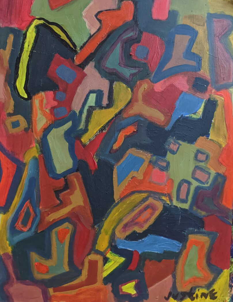 Painting by Justine Roland-Cal - Untitled Abstract d