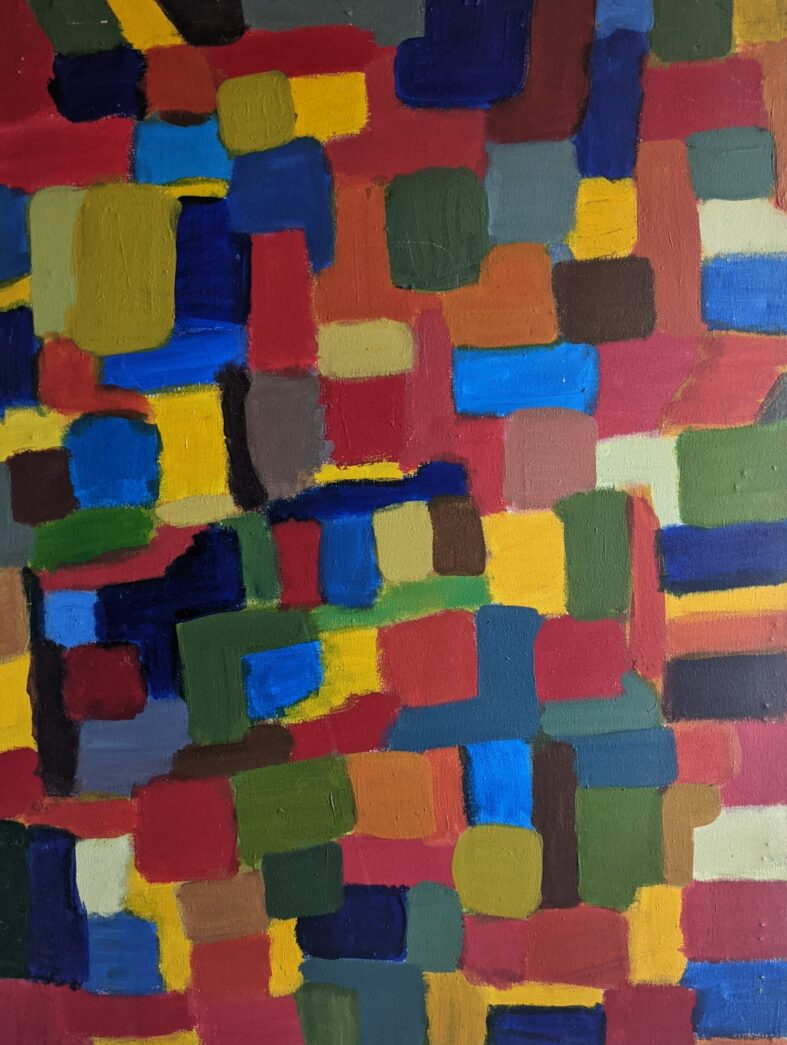 Painting by Justine Roland-Cal - Untitled Abstract f